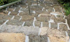 石段補修工事完了しました